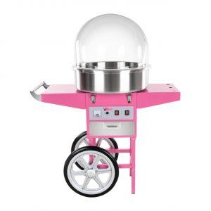 Stroj na cukrovú vatu RCZC-1200E. Jednoduchá príprava cukrovej vaty, stroj vybavený ochranným krytom, dávkovačom cukru a kolieskami, čo uľahčuje manipuláciu