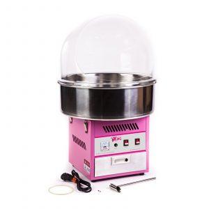 Stroj na cukrovú vatu RCZK-1200E. Ochranný kryt zabraňuje vnikaniu nečistôt z okolia zároveň má veľký otvor pre ľahkú obsluhu. Dávkovač na porciovanie cukru