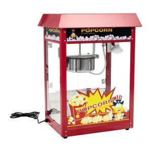 Stroj na popcorn 1600W. Model RCPR-16E, jednoduchá príprava popcornu, osvetlený vnútorný priestor. Odoberateľný hrniec s teflónovým povrchom.