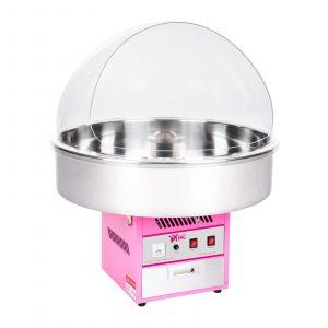Stroj na cukrovú vatu RCZK-1200XL vybavený širokou miskou veľkosti 72cm a ochranným krytom proti nečistotám. Jednoduchá príprava s 20 g dávkovačom cukru.