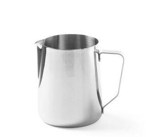 Hrnček na napenenie mlieka 0,9 L. Vyrobený z nerezovej ocele, možnosť umývať v úmývačke riadu. Využitie príprave chutnej kávy alebo cappucchina.