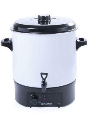Jednostenný varník na ohrev vína 27 L | Hendi 240601. Vhodný na prípravu vareného vína alebo horúcej vody. Regulácia teploty do 90°.