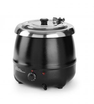 Kotlík na polievku 8 litrov   Hendi 860083. Možnosťž nastavenia teploty ohrevu v rozsahu 0 – 65 °C. Výbavený sklápacou pokrievkou a úchytom pre naberačku.