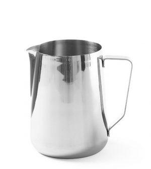 Hrnček na napenenie mlieka 1,5 L. Využitie na prípravu chutnej kávy alebo cappuccina. Vyrobený z nerezovej ocele, možné umývať v umývačke riadu.