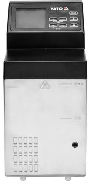 Elektrický varič SOUS-VIDE-1. Varič vákuovo balených potravín, pri nízkych teplotách. Ovládací panel s LCD displejom. Vysoká presnosť varenia mäsa, rýb, zeleniny.
