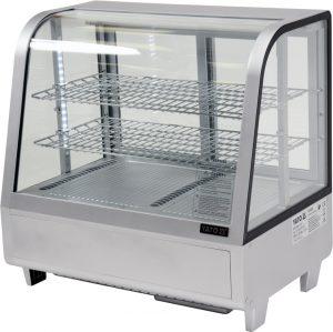 Chladiaca vitrína 100 L - strieborná YG-05022 - 1