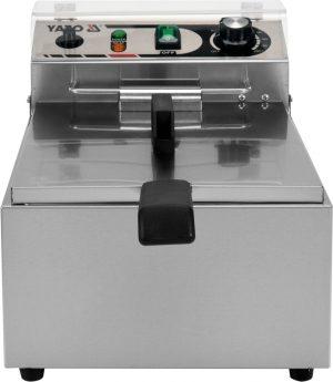 Fritéza 10 L YG-04610 Elektrická fritéza 10 L. Praktická a kompatkná fritéza vyrobená z nerezovej ocele, vhodná na vyprážanie jedál s výkonom 3.0 kW s termostatom.