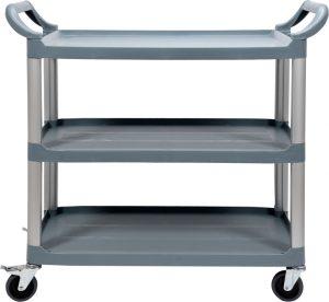 Trojpolicový plastový servírovací vozík YG-09100