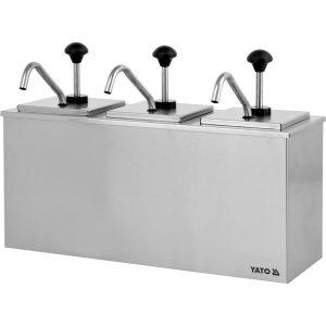 Dávkovač na omáčky trojitý 3x3 l - model- YG-00559
