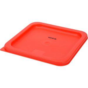 Polypropylénová červená pokrievka pre nádobu GN 23cm - model- YG-00525